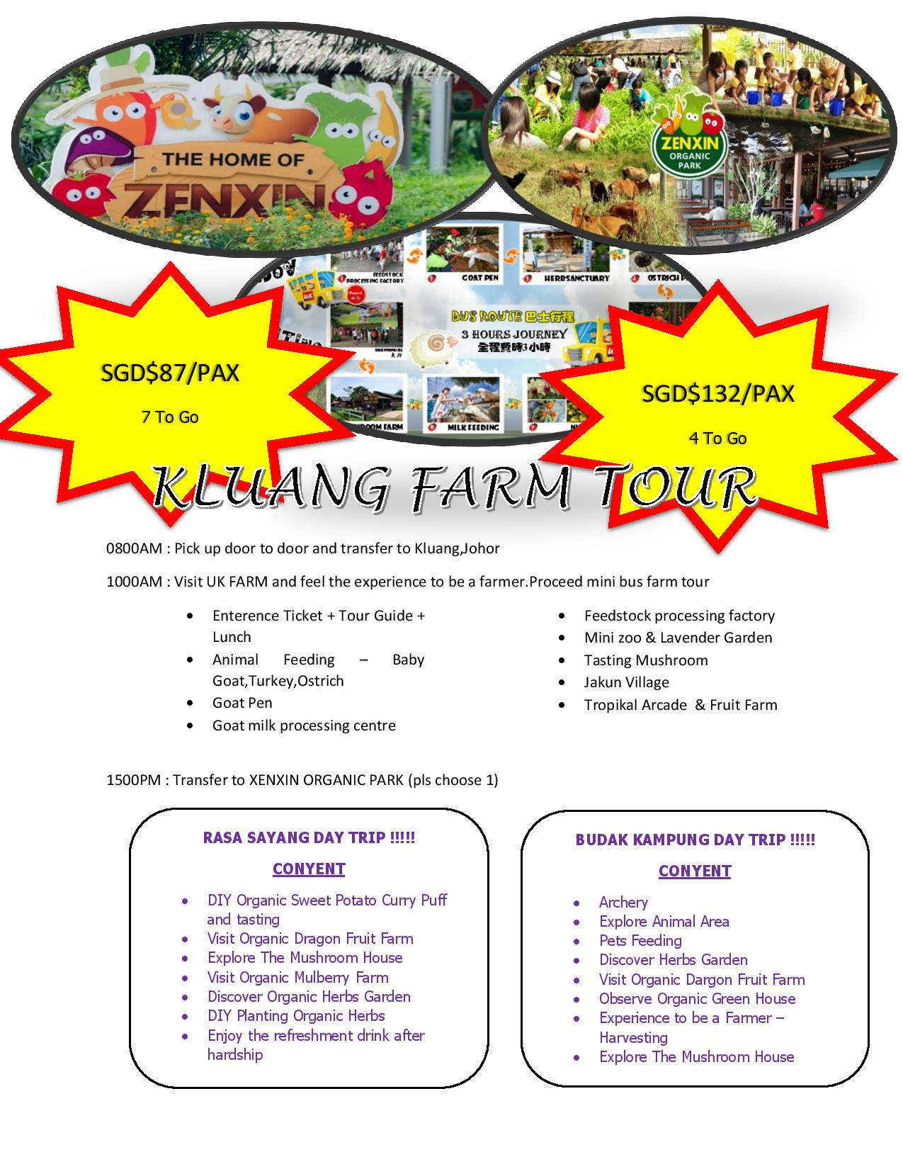 Xenxin Organic Park + UK Farm Day Tour